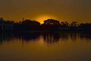 Sunrise over the town of Palm Beach, Florida, USA