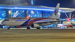 Malaysia Boeing B737-800 9M-MXD Bangalore (BLR/VOBL) (Aiel) Tags: malaysia boeing b737 b737800 9mmxd bangalore bengaluru canon60d tamron70300vc nght noflash beacons