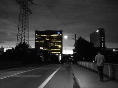 Eschborn TZE at Night (bonho1962) Tags: eschborn tze deutschebank night lg sossenheim bw street nighthawk