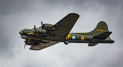 """B-17 Flying Fortress """"Sally B"""" (Aleem Yousaf) Tags: b17 flying fortress sallyb memorial boeing heavy bomber memphis belle royal international air tattoo plane spotting airshow fairford swindon military riat2017 gloucestershire aviation photography nikon d800 300mm prime fighter jet airplane aircraft"""