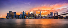 Lower Manhattan Skyline Sunset (NPuter) Tags: night newyork 1635iii sunset water city longexposure brooklynbridgepark clouds lights 5d4 brooklynbridge newyorkcity 5dmarkiv sky eastriver manhattan nyc 5div lowermanhattan unitedstates us