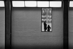 The tate (Daz Smith) Tags: dazsmith fujixt20 fuji xt20 andwhite city streetphotography people candid portrait citylife thecity urban streets uk monochrome blancoynegro blackandwhite mono tate gallery window silhouette women woman london black bw