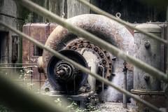 Turbine in detail (Michal Seidl) Tags: abandoned abbandonato hydro powerplant centrale ydro eletrrica italy opuštěná vodní elektrárna hdr urbex infiltration industry canon