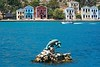 Megisti (yonca60) Tags: megisti kastelorizo greece meis island greekisland sea dolphin statue landscape deniz seascape houses colorfulhouses boat bluesea summer yunanadasi vista mare
