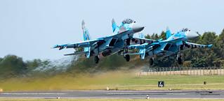 Ukranian Air Force Sukhoi 27 Flanker's