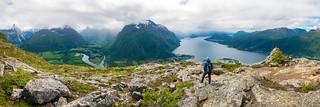 Ramsdalsfjord from Romsdalseggen Ridge