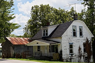 Abandoned house in Foster, Kentucky