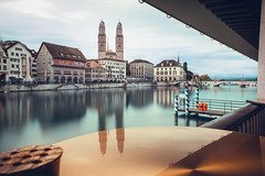A Game Of Tones (Thomas Paal Photography) Tags: switzerland schweiz zurich zürich river fluss wanderlust reisefotografie reisen travel fujifilm fuji xt20 samyang 12mm prime wide angle reflection long exposure day langzeitbelichtung tag cityscape city stadt