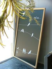 relax... (jHc__johart) Tags: board windowdisplay kansas birdfigures design chalkboard lettering plant sign