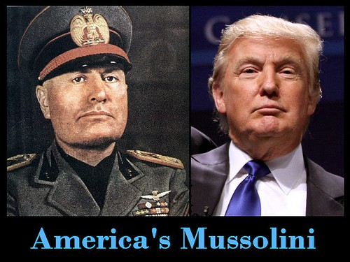 From flickr.com: American Mussolini.  And he doesn't even speak Italian. {MID-321327}