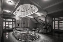 Black Beauty (Elbmaedchen) Tags: staircase treppenhaus schwarzweis interior architecture blackandwhite hamburg asiahaus nexttimewithtripod
