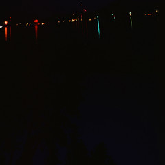 7.4.17 Fireworks Loon Lake Rollei E6 E09 (Jcicely) Tags: 2017 e6 fireworks fourthofjuly july loonlake loonlakewithmarvin reflection rollei sky water