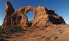 Find a place inside where there's joy, and the joy will burn out the pain… (ferpectshotz) Tags: turretarch archesnationalpark utah navajosandstones arch desert sky blue