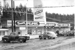 1950 Gorst, WA Ted and Mel's Thriftway Market (Brett Streutker) Tags: supermarket food store wall mart krogers ap woolworth foomark 1970 1980 1977 1963 1950 1967 kids mom mum shopping with dad nostalgia old days out business closed time muzak shop till you drop dollar tesco iga lion neighborhood school grandma grandpa cart 1970s 1960s 1950s vintage long lost summer job clerk cashier department coffee dairy cheakout lane monochrome