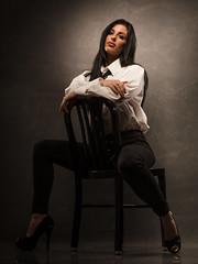 Mary (jerseytom55) Tags: pentax645z 645z portrait profile pentax drama molasetti gravitybackdrops whiteshirt womaninmansshirt