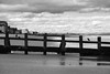 Standing on the groyne (louys:) Tags: portobello fuji xt2 xf18135mmf3556rlmoiswr blackandwhite beach sand birds clouds groyne