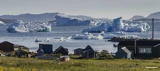 Junto al fiordo. Groenlandia