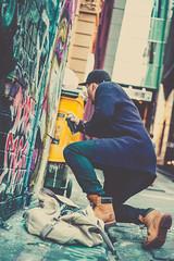 Hoiser Lane (jc.street) Tags: 40mm leicam people artist boots color colour contrast cute dreamy epson finder girls golden graffiti iconic leica life mrokkor pastel photography photos rd1 rd1s range rangefinder rokkor seiko shadow shot smooth snap street streetphotography streetscene streetshooter streetshot streetview streets tagging timberlands toning tourists travel urbanpeople urbanstreet urbanview warm