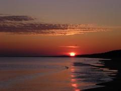 Sunrise at Baltic Sea in Poland (doubleshotblog) Tags: poland balticsea fireinthesky dramatic sun beach sunrise