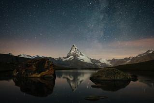 Matterhorn in Moonlight