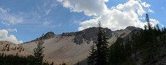 Chaos Crags panorama from a pass (rozoneill) Tags: lassen volcanic national park chaos crags crag lake manzanita wilderness hiking california redding