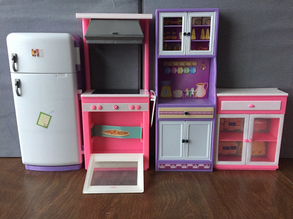 Kitchen Before Spray Painting (Foxy Belle) Tags: Gloria Furniture Plastic  Barbie