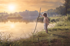 At the lake (Windermere Images) Tags: boy lake france salagnac love sunset summer water trees fun fishing