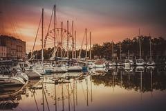 La grande roue (RoCafe Off for a while) Tags: roue port harbor town city boats marine seascape seashore sunset aquitania france nikkor2470f28 nikond600 treadmill noria