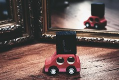 DSC04299-02 (suzyhazelwood) Tags: toys cars kids mirror learner drive red learning creativecommons sony