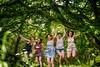 jump in the jungle (pipe notjustaphoto) Tags: jung girls jumping green forest tree summer sun shorts dresses fun friends dschungel