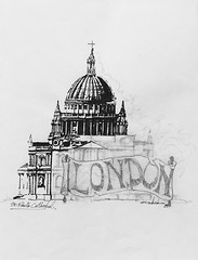 First entry of my 1989 Europe sketchbook - St. Paul's (schunky_monkey) Tags: mustsee travel pen ink penandink fountainpen sketch draw classical traditional architecture church cathedral england london stpauls