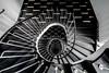 Stripes (Elbmaedchen) Tags: stairs staircase stairwell treppenauge downstairs blackandwhite schwarzweis architektur spirale