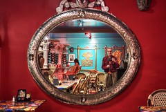 Mirror, mirror on the wall... (PeterThoeny) Tags: mosslanding california hauteenchiladacafe cafe restaurant indoor mirror reflection portrait selfportrait selfie sony sonya7 a7 a7ii a7mii alpha7mii ilce7m2 fullframe fe2870mmf3556oss 1xp raw photomatix hdr qualityhdr qualityhdrphotography fav100