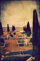 The end of the summer (vittorio.chiampan) Tags: summer beach beachumbrella fineart art sand sea seascape