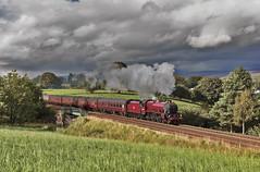 Clouds over Appleby (EltonRoad) Tags: 45699 galatea jubilee class steam train railway line appleby causeybrow westmorland cumbria waverley pennines settle carlisle sc railwaytouringcompany westcoast locomotive engine