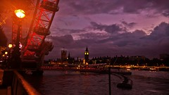 London night  view (luthomas) Tags: thames londoneye wesminster bigben red touristic attraction beautiful viola evening citylights clock time