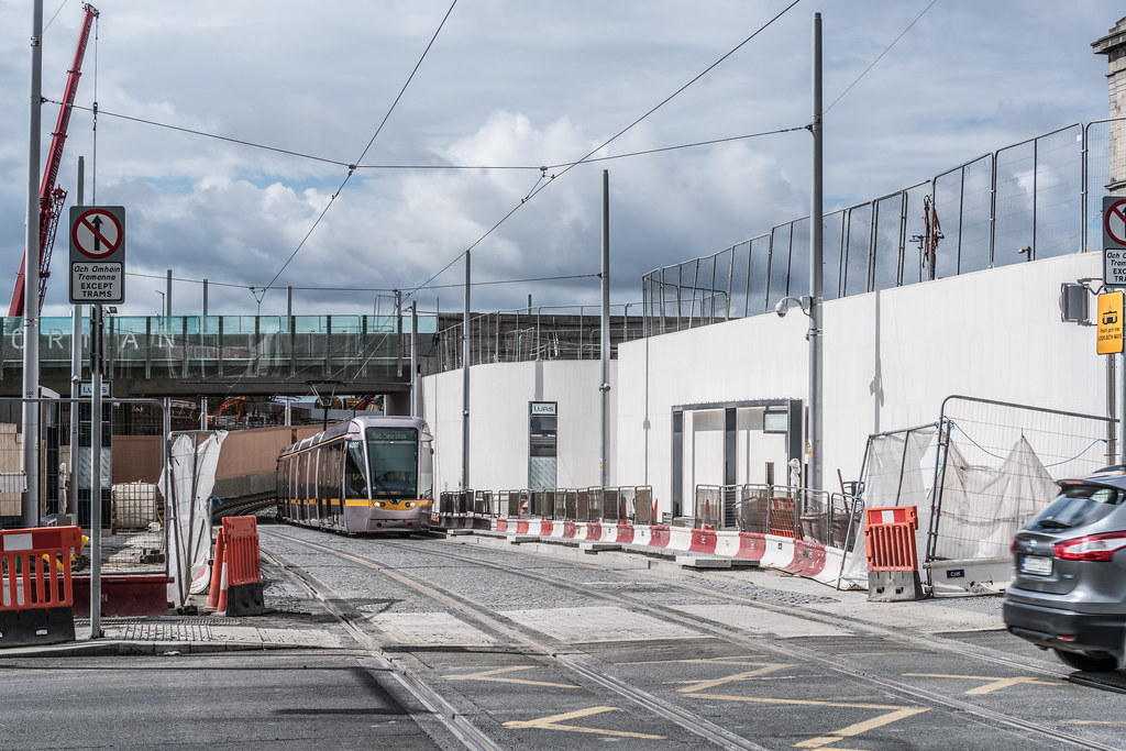 THE NEW LUAS TRAM STOP AT BROADSTONE [TESTING PHASE UNTIL EARLY DECEMBER]-1324699