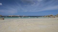 Au mouillage * (Titole) Tags: bretagne brittany titole nicolefaton boats beach sky blue rocks