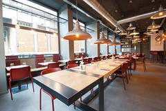 _DSC2027 (fdpdesign) Tags: pizzamaria pizzeria genova viacecchi foce italia italy design nikon d800 d200 furniture shopdesign industrial lampade arredo arredamento legno ferro abete tavoli sedie locali