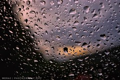 Rain drops. (Meraj.) Tags: nikon1855mm evening water car windshield glass nikond5300 nikon photography bangalore asia southindia karnataka india raindrops carwindshield rain rainy