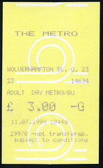 ticket - midlands metro 11-7-99 (johnmightycat1) Tags: bus ticket