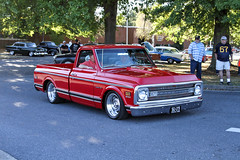 Primetime 69 (Shutter Photography & Hot Rod Images) Tags: 1969 chevy transportation chevrolet truck carshow lexingtonva lowered custom red antique classic canon7d