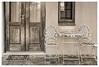 Front Door (Daniela 59) Tags: 7dwf 7dayswithflickr thursdaythemebwandsepia monochrome sepia door donderdagdeurendag vintage window building hatfield pretoria southafrica danielaruppel
