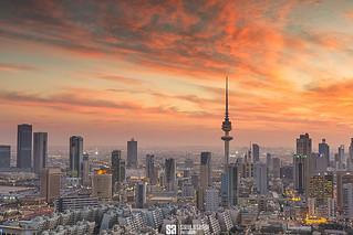 Kuwait - Beautiful Sunset Over Kuwait City