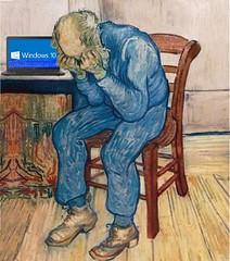 Old Man in Sorrow, after van Gogh (Mike Licht, NotionsCapital.com) Tags: vangogh vincentvangogh onthethresholdofeternity oldmaninsorrow windows10 bluescreenofdeath laptops computers oldage men anachronism ateternitysgate wornout adrianusjacobuszuyderland microsoft