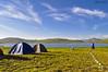 The Blind Lake (Shayan Ahmed Khan) Tags: lake water mountains killermountain camping blue sky clouds highestlake landofgiants