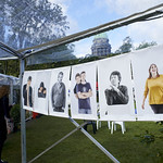 Chris Close author portrait exhibition in Gardens