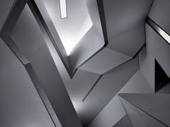 ROM, Toronto, Ont (Timothy Neesam (GumshoePhotos)) Tags: rom royalontariomuseum stairwayofwonders toronto ontario stairs blackandwhite fuji fujifilm xt2 graphic