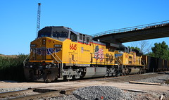 UP 6845, 8482, Stroebe, Fox Crossing, 12 Aug 17-1 (kkaf) Tags: up foxcrossing stroebe c702 ac4400cw sd70ace