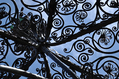 of squids, foxes and spirals (238/365) (werewegian) Tags: cast iron fountain lyle cathcart square greenock abstract art sky werewegian aug17 365the2017edition 3652017 day238 26aug17